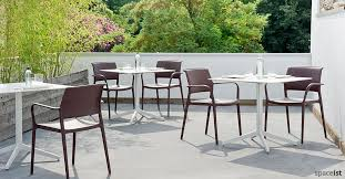Fine Cafe Ypsilon Large White Outdoor Table For A