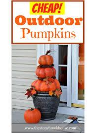 Pumpkin Patch Sioux Falls Sd by Cheap Easy Diy Outdoor Pumpkins Hometalk