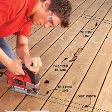 Floor Joist Span Table Deck by Repairing Decks And Railings Family Handyman