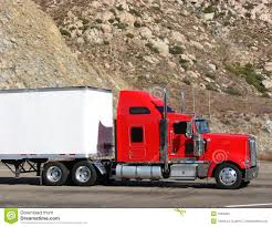 100 Tractor Truck Big Rig Trailer On A Mountain Road Stock Photo Image