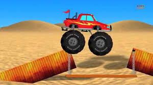 100 Destroyer Monster Truck Stunts Cartoon Videos For