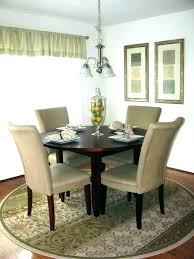 Rug Under Round Dining Table Room Circular