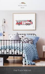 100 Fire Truck Wall Art Print Printable Ladder Print