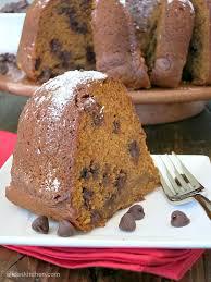 Healthy Chocolate Pumpkin Desserts by Pumpkin Chocolate Chip Bundt Cake Sundaysupper Alida U0027s Kitchen