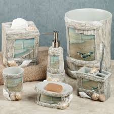 Coastal Bathroom Decor Pinterest by At The Beach Bath Accessories Seaside Themed Bathroom Accessories