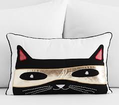 Pottery Barn Decorative Pillow Inserts by The Emily U0026 Meritt Cat Bandit Decorative Pillow Pottery Barn Kids