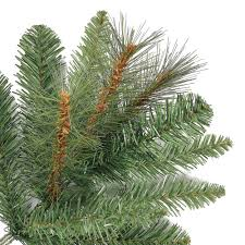 Silvertip Fir Christmas Tree by 6 5 Ft Crestwood Pine Pvc Christmas Tree With Clear Or Multicolor