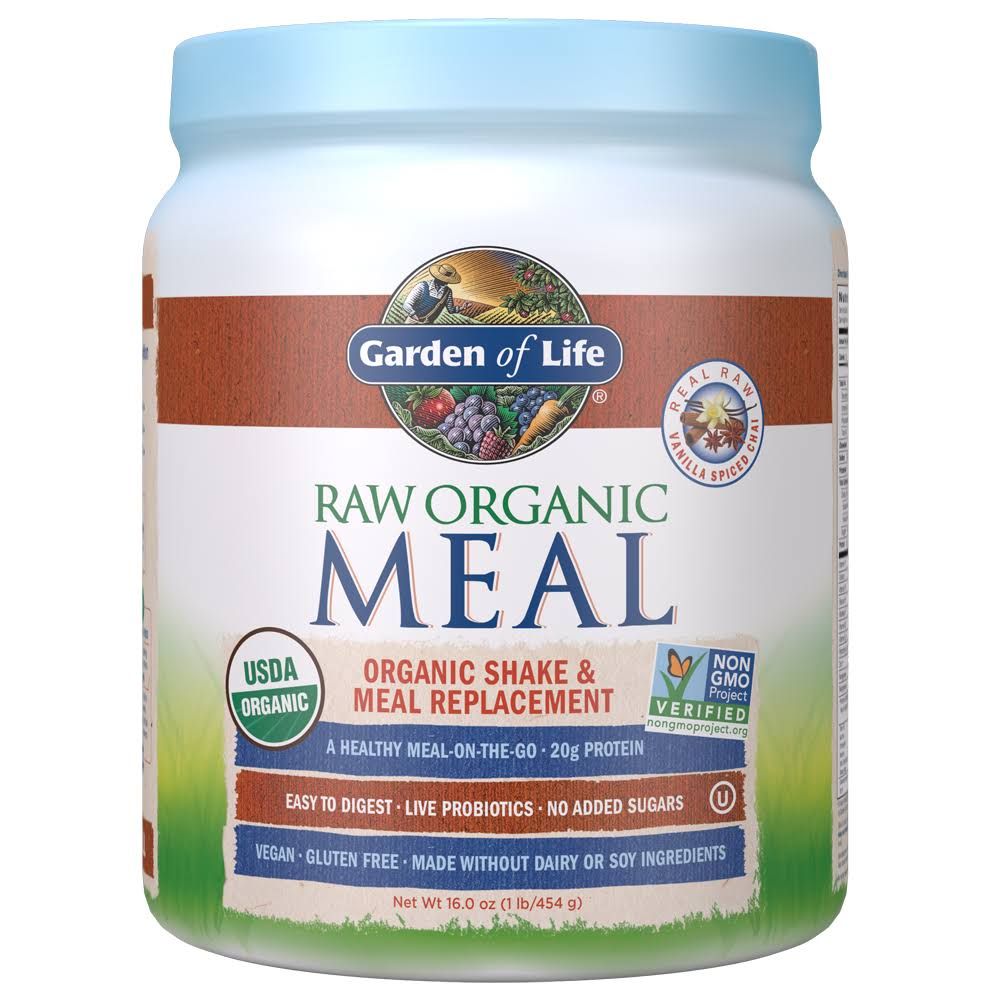 Garden of Life Raw Organic Meal Nutritional Supplement - Vanilla Spiced Chai, 557g