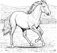 Click To See Printable Version Of Running Mare Horse Coloring Page