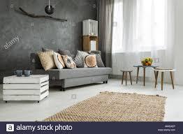moderne minimalistische und helles wohnzimmer in den farben