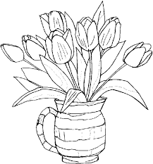 Spring Flowers Coloring Page Flower Pages Prints And Within For Adults
