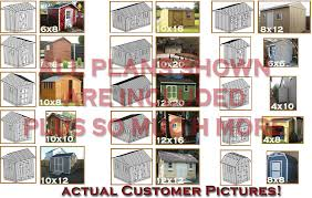 10x20 Storage Shed Plans by Custom Design Shed Plans 6x8 Gable Storage Diy Instructions And