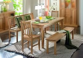 essgruppe esszimmergruppe tisch bank stühle esszimmer eiche massiv geölt natur lanatura