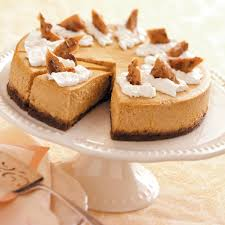 Pumpkin Cheesecake Gingersnap Crust Caramel by Pumpkin Cheesecake Deluxe Recipe Taste Of Home