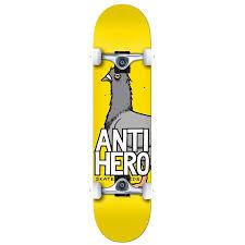 100 Buck Skate Trucks Anti Hero Pigeon Hero 80 Board Complete Evo