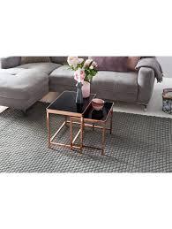 finebuy couchtisch patris glas kupfer 2er set wohnzimmertisch mit glasplatte beistelltisch tisch wohnzimmer klingel