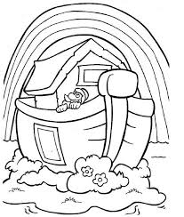 Noahs Ark Rainbow Coloring Page Bible Noah