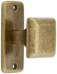 mission square cabinet knob with rectangular backplate house of