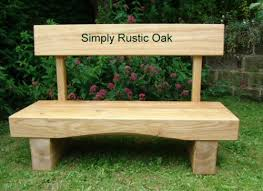 Rustic Oak Arched Beam Garden Bench With Back Rest