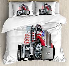 Truck Duvet Cover Set American Flag Themed Semi 18 Wheeler Patriotic ... Bedding Toddler Cstruction Trucks Nojo Boy 91 Phomenal Fire Truck Bedding Bedroom Cute Colorful Pattern Circo For Teenage Girl Old Truck Wwwtopsimagescom Amazoncom Ruihome 3piece Quilt Bedspread Set Boys Cars Batmobile Toys R Us Princess Batman Car Little Tikes Fire Simple Red Girl Applied On The White Rug It Also Lovely Monster Toddler Pagesluthiercom Fitted Sheet With Standard Pillowcase Set Time Junior Cot Bed Duvet Cover Dumper Ebay