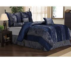 Blue And Silver forter Set Interior Decorating