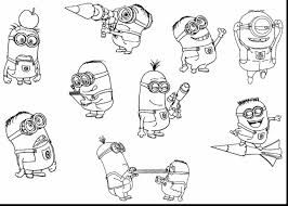 Superb Minions Printable Coloring Pages Az With Free Minion And