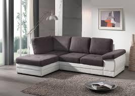 canap en angle canapé d angle contemporain convertible en tissu coloris gris foncé