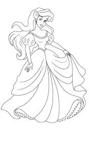 Princess Ariel On Her Wedding Day Princesses Coloring Pages