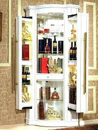 Table Mesmerizing Fabulous Dry Bar Cabinet Corner Wine Furniture White Style Modern Design Color Wooden Pulls