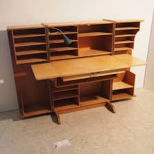 bureau chene clair bureau caisson suédois vers 1950 bois plaqué chêne clair 2