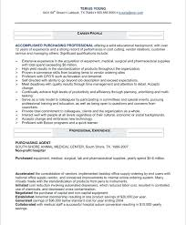 Procurement Manager Resume Sample Format For Purchase Category Example