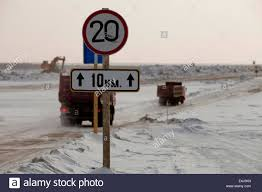 100 Sign Truck Russia Road Sign Ice Road Snow Stock Photo 71698137 Alamy