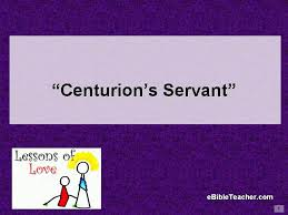 Centurions Servant Cover Page