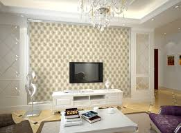 Effect Print Faux Leather Wallpaper Modern Gold Beige Purple Living Room Ideas