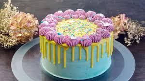 bunte geburtstagstorte backen drip cake selber machen