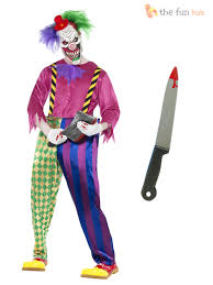 Halloween Contact Lenses Ebay by Mens Scary Killer Clown Costume Mask Knife Halloween