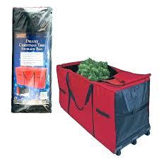 Tree Storage Box Red Artificial Bag Christmas Rubbermaid