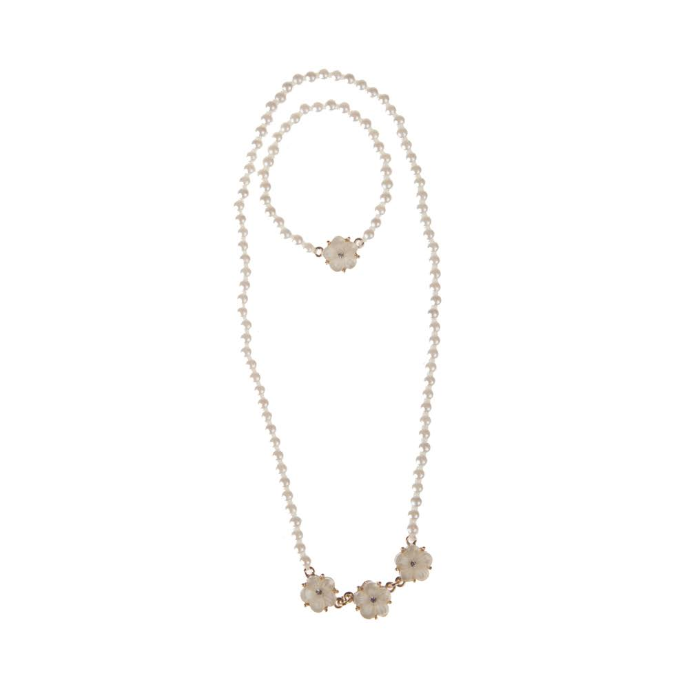 Great Pretenders Twirling in Pearls Necklace Bracelet Set