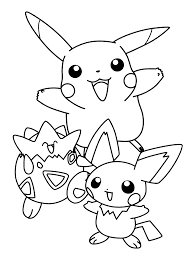 Pokemon Printable Coloring Pages Pikachu And Friends Online