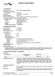Usg Ceiling Grid Data Sheet by Msds Sheets Carpentry