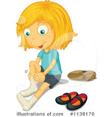 take off shoes clipart Royalty Free RF Girl Clipart