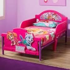 Toddler Bed Girls Paw Patrol Skye 3D Rails Headboard Pink Bedroom