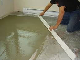 Liquid Floor Leveler Youtube by Quick Drying Self Leveling Concrete Is Mixed With An Acrylic