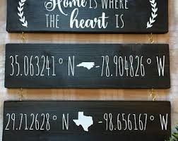 Home Coordinates Sign Latitude And Longitude