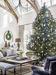 Simon Pearce Christmas Tree Sale by Holiday Home Shimmering In Blue And Lavender Traditional Home