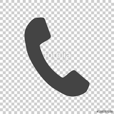 Phone icon in flat style Vector illustration on isolated