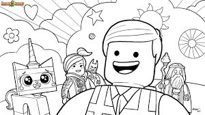 The LEGO Movie Coloring Page Cast Printable Color Sheet