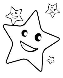 Smile Christmas Star Coloring Pages