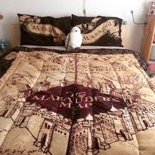 marauders map bedspread i need this so badly harry potter