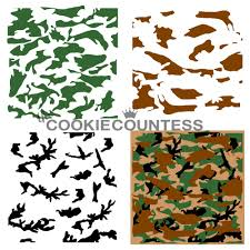 Army Camo Bathroom Decor by 3 Piece Camouflage Stencil Cookie Countess Decorating Supplies